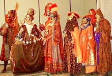 picture of members in elaborate court costumes