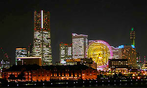 night photo of Yokohama skyline, copyright Yokohama City